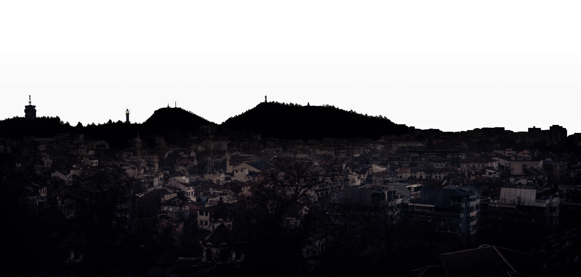 Plovdiv by night by LEMUN DIGITAL in PNG