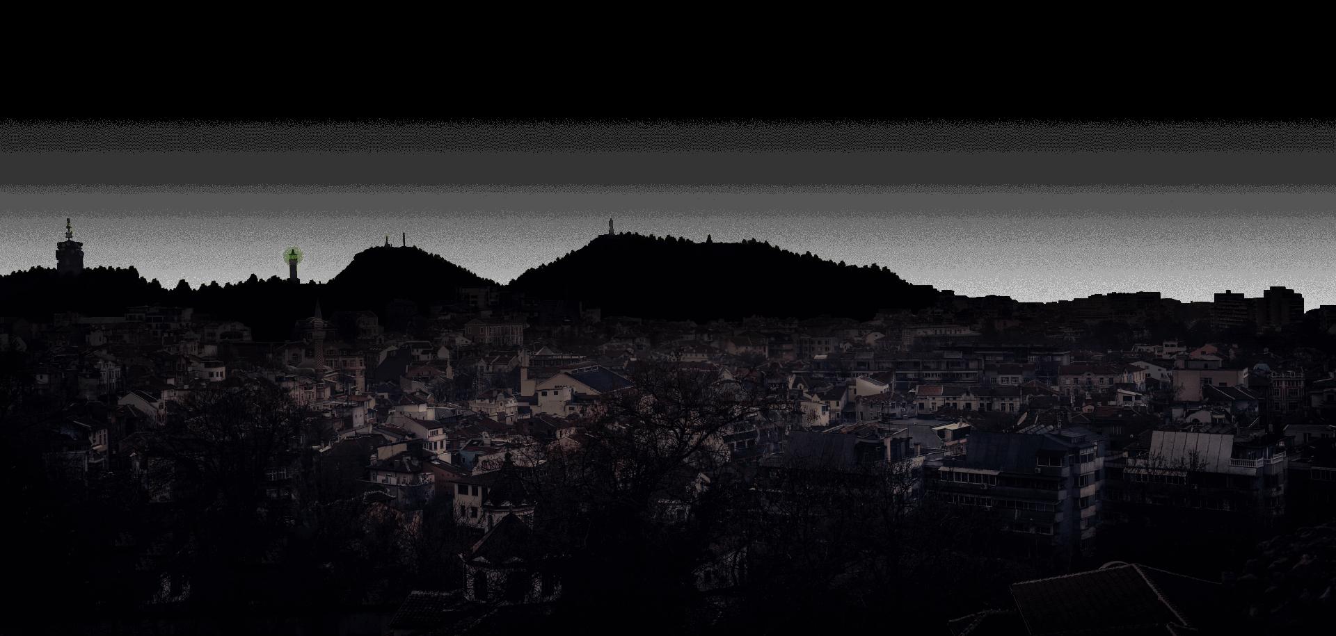 Plovdiv by night by LEMUN DIGITAL in PNG